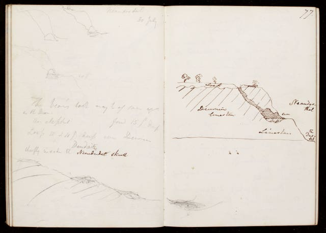 Charles Lyell's notebooks