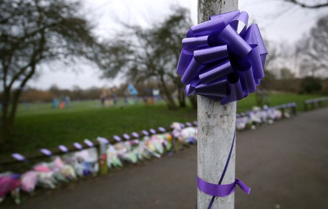 Purple bows and ribbons were attached to lamp posts and railings in Harold Hill after Jodie's death