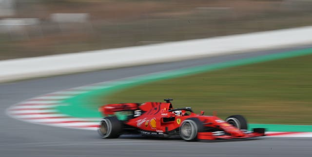 Sebastian Vettel was the fastest out of the blocks on Monday
