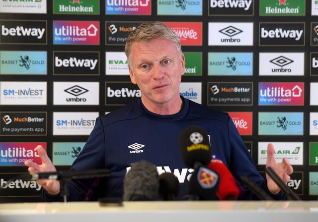 New West Ham manager David Moyes faces the press
