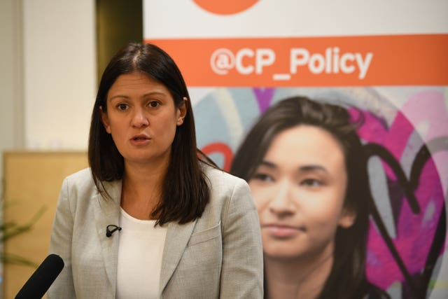 Labour leadership candidate Lisa Nandy gives a speech on the welfare state at the the homeless charity Centrepoint in central London