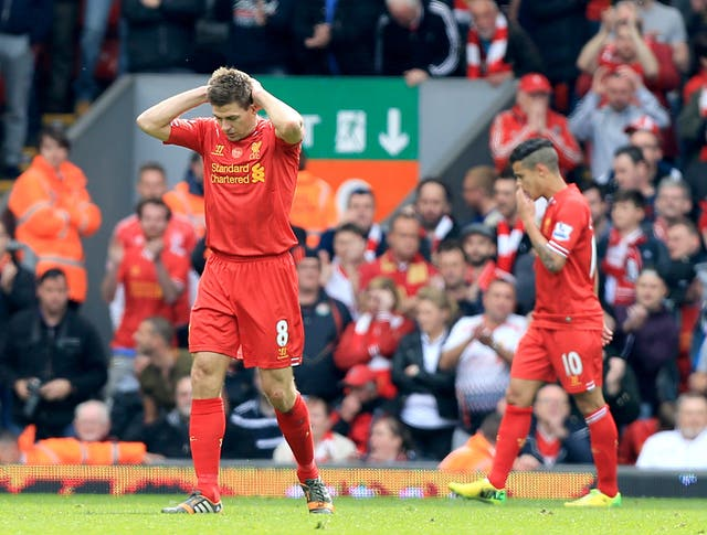 Steven Gerrard had a moment to forget against Chelsea in 2014