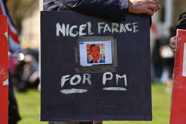 A Nigel Farage fan in Westminster
