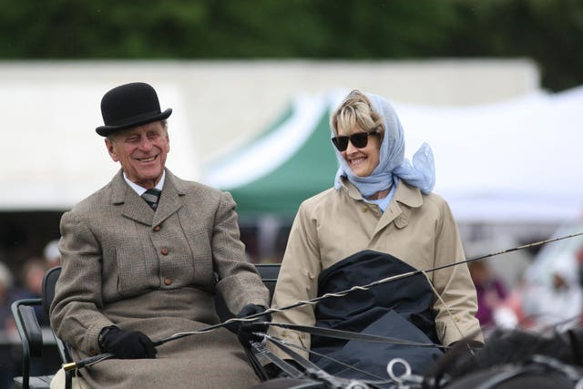 The Duke of Edinburgh with Lady Brabourne
