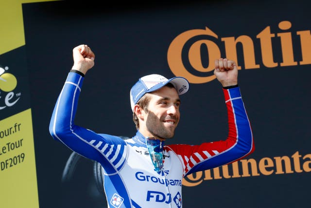 Thibaut Pinot took the stage win