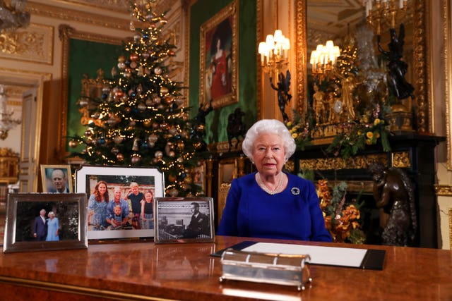 The Queen normally makes one national broadcast a year - her Christmas address to the nation. Steve Parsons/PA Wire