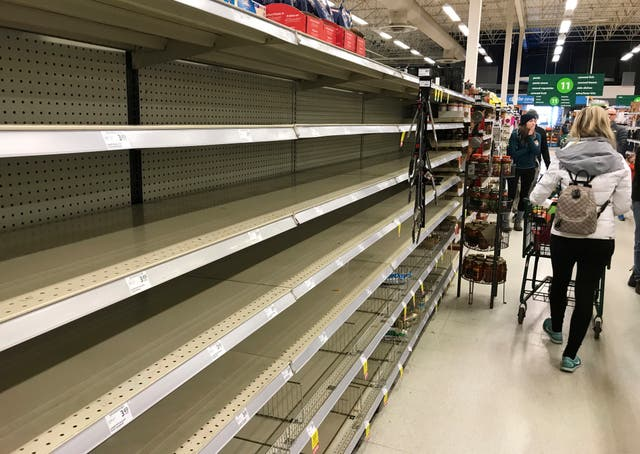 Empty shelves in Canada