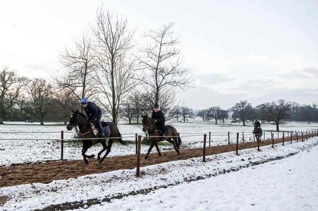 Jockeys out for a morning gallop