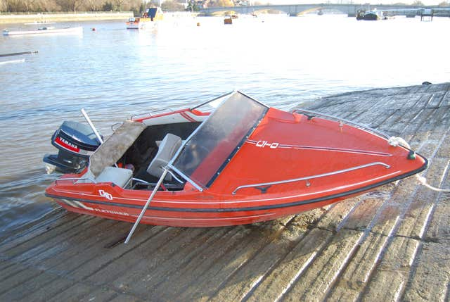 The speedboat owned by Jack Shepherd