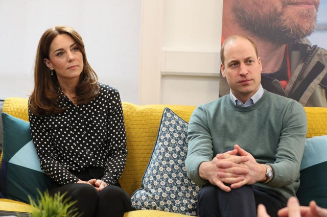 "Duke and Duchess of Cambridge who have pledged to make supporting the mental health of frontline workers battling coronavirus their ""top priority"" in the months ahead. Brian Lawless/PA Wire"