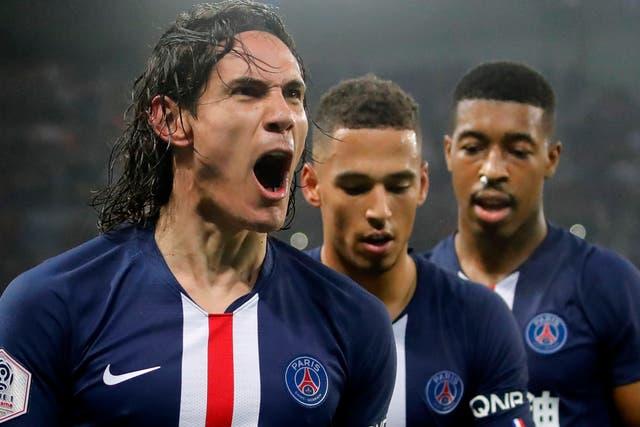 Edinson Cavani was on target in PSG's 4-3 win against Bordeaux