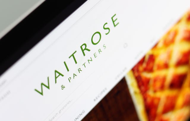 The Waitrose website on a laptop