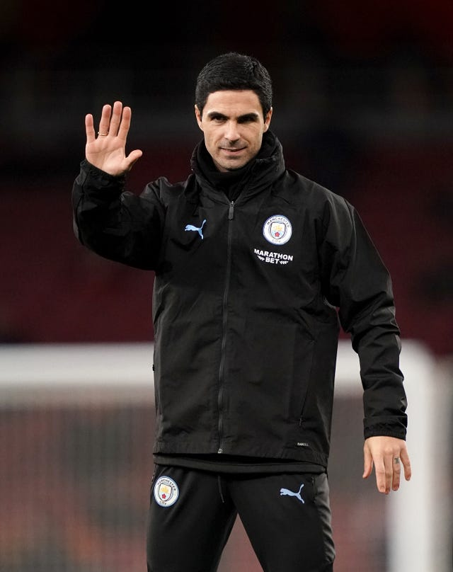 Mikel Arteta was back at the Emirates on Sunday