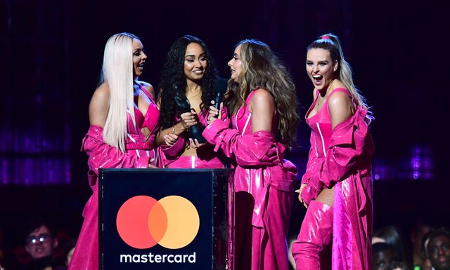 Jesy Nelson, Leigh-Anne Pinnock, Jade Thirlwall and Perrie Edwards of Little Mix at the Brits