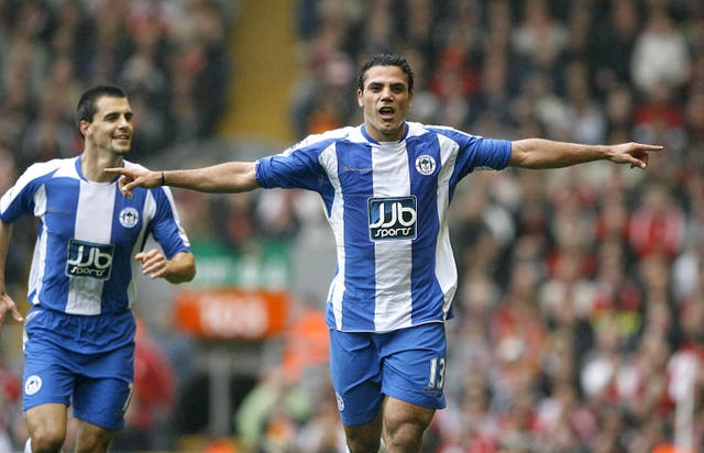 Amr Zaki, right, joined Wigan after impressing manager Steve Bruce during Egypt's triumphant 2008 Africa Cup of Nations campaign