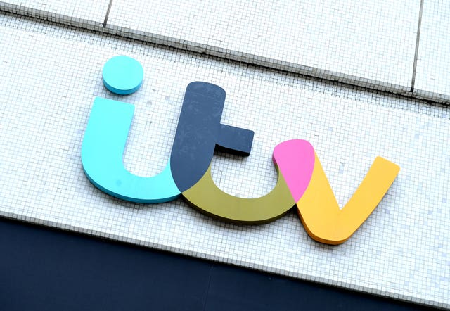 The ITV logo on The London Studios in London