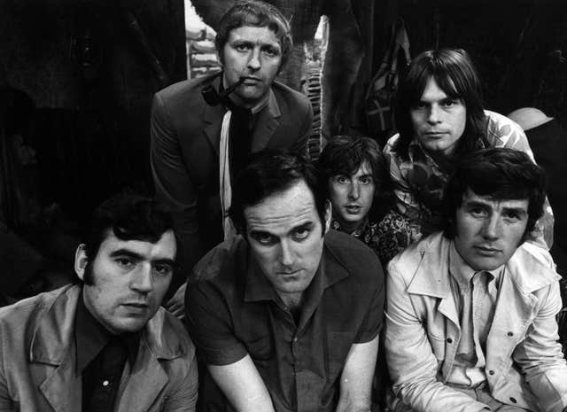 The Monty Python gang in their earlier years