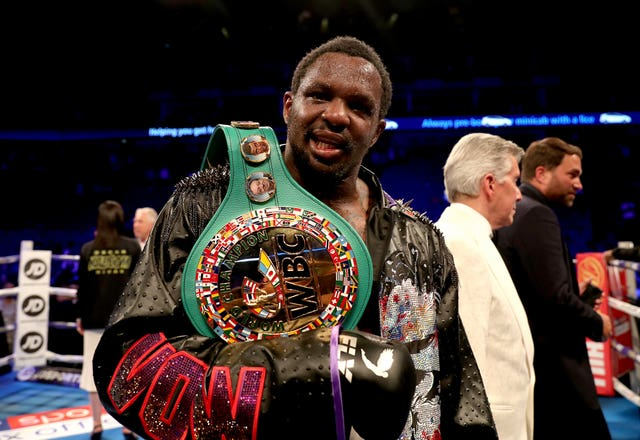 Dillian Whyte is the WBC interim heavyweight champion (Bradley Collyer/PA)
