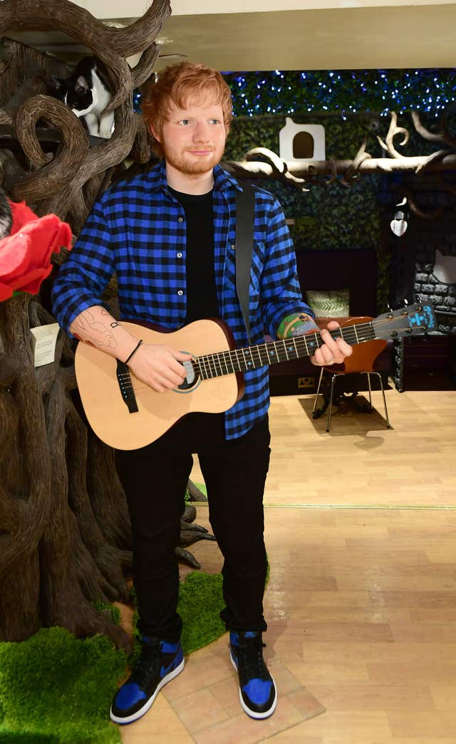 Ed Sheeran wax figure