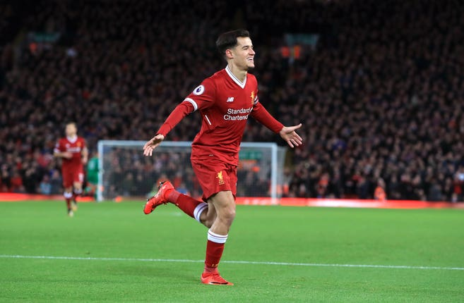 Philippe Coutinho left Liverpool in January 2018