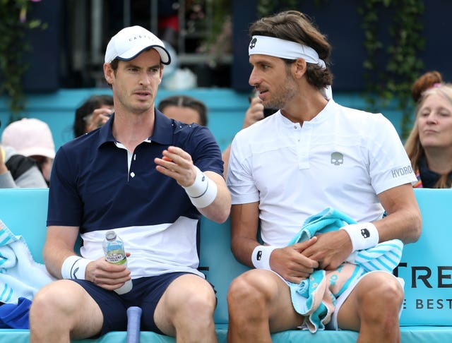 Murray and old friend Feliciano Lopez teamed up