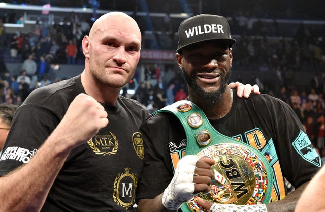 December's fight between Tyson Fury and Deontay Wilder finished in a draw