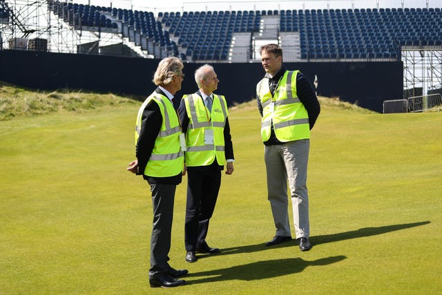 David Lidington visit to Royal Portrush Golf Club