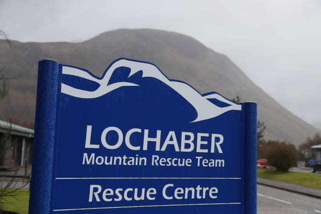 Lochaber Mountain Rescue Team centre sign