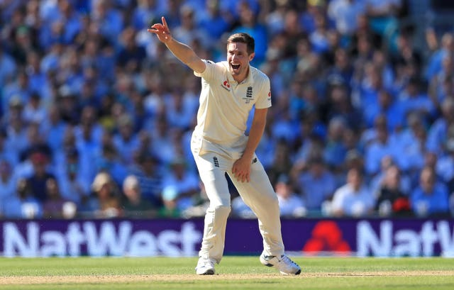 Chris Woakes took three wickets in 11 deliveries for England