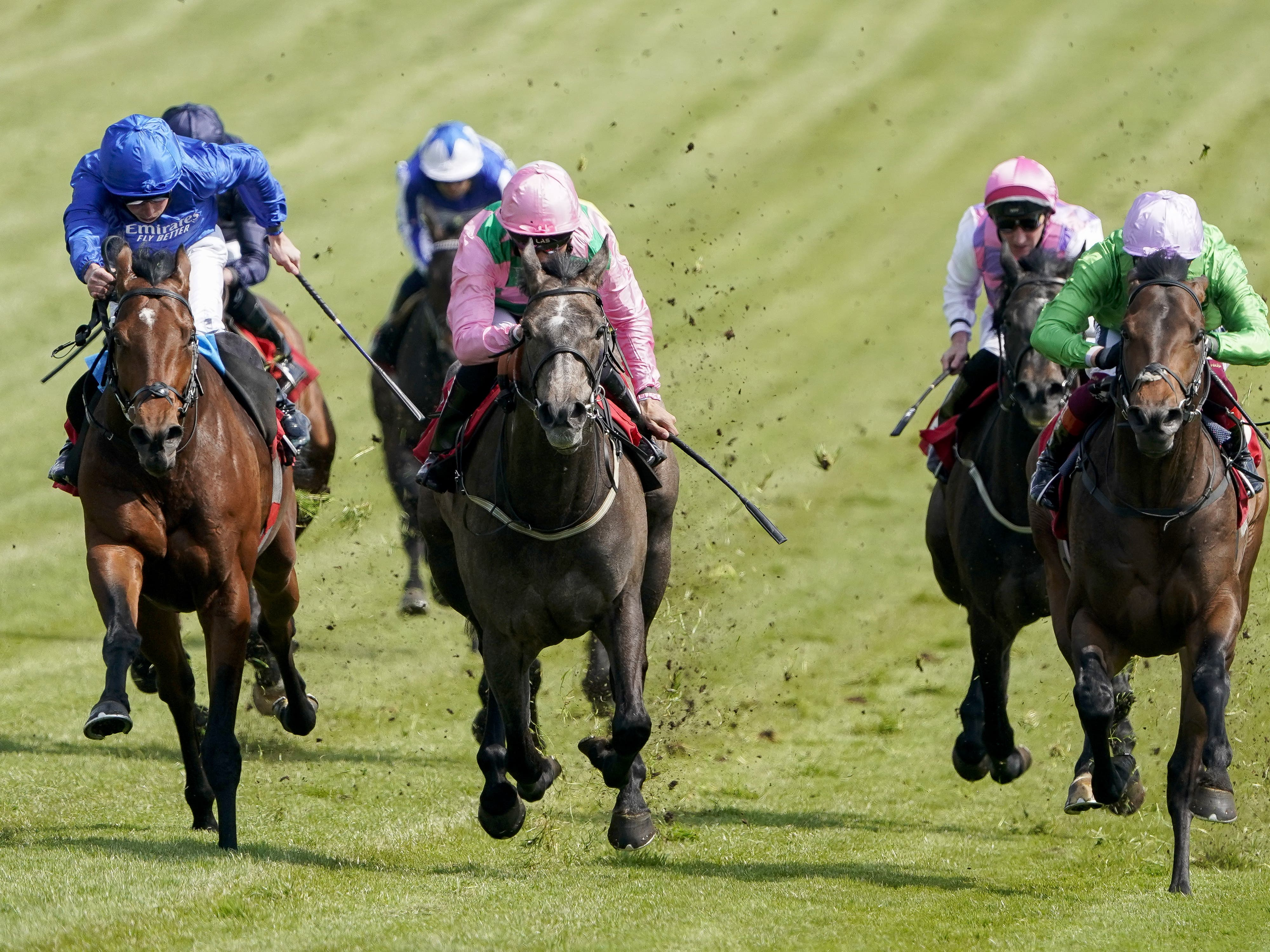 Wirko (left) gets up to win at Epsom (Alan Crowhurst/PA)