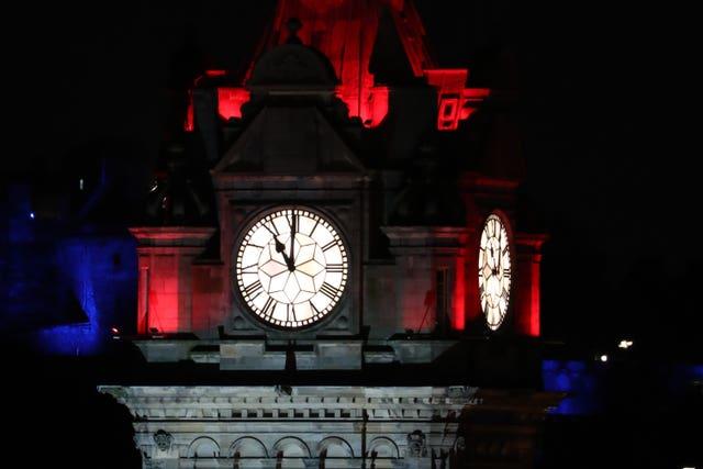 The Balmoral Hotel clock in Edinburgh (Andrew Milligan/PA)
