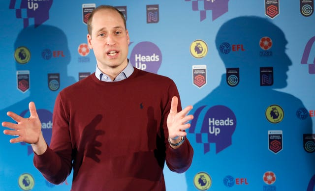 The Duke of Cambridge at a Heads Up campaign event in London