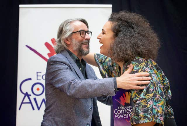 Comedian Rose Matafeo and Steve Coogan