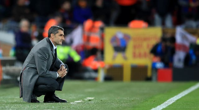 Ernesto Valverde saw Barcelona struggle to overcome Slavia Prague