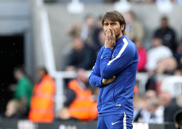 Conte spent two seasons at Stamford Bridge