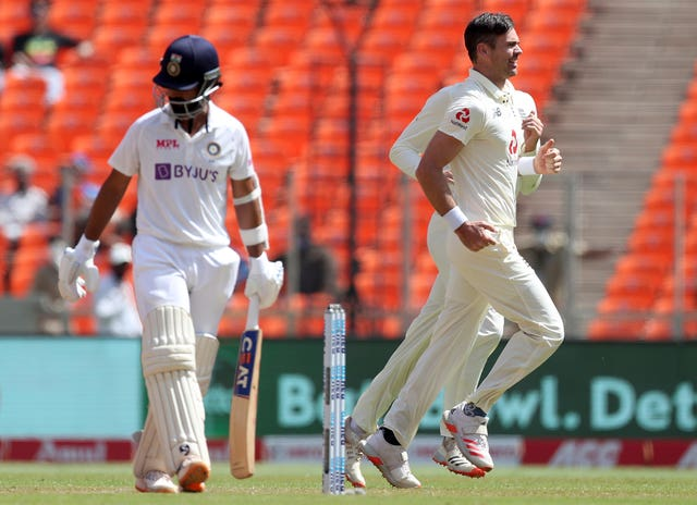 Anderson, right, got the better of Rahane