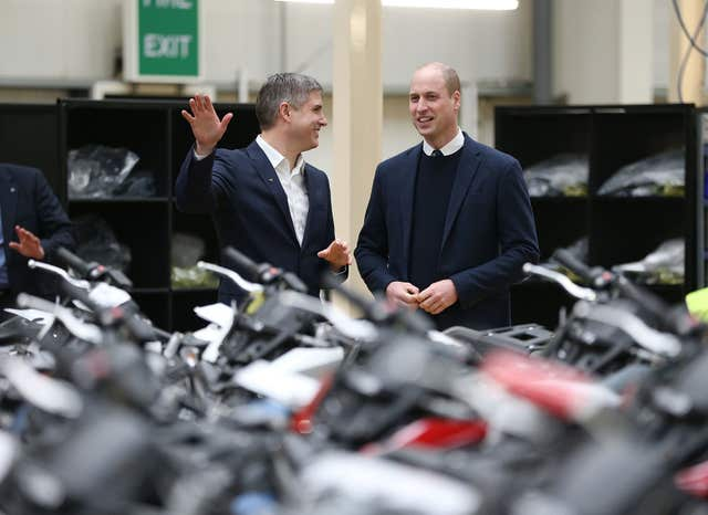 Duke of Cambridge visits Nuneaton