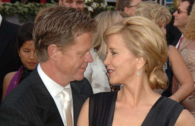 William H Macy and Felicity Huffman at the Academy Awards
