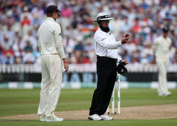 Aleem Dar was one of the on-field umpires at Edgbaston
