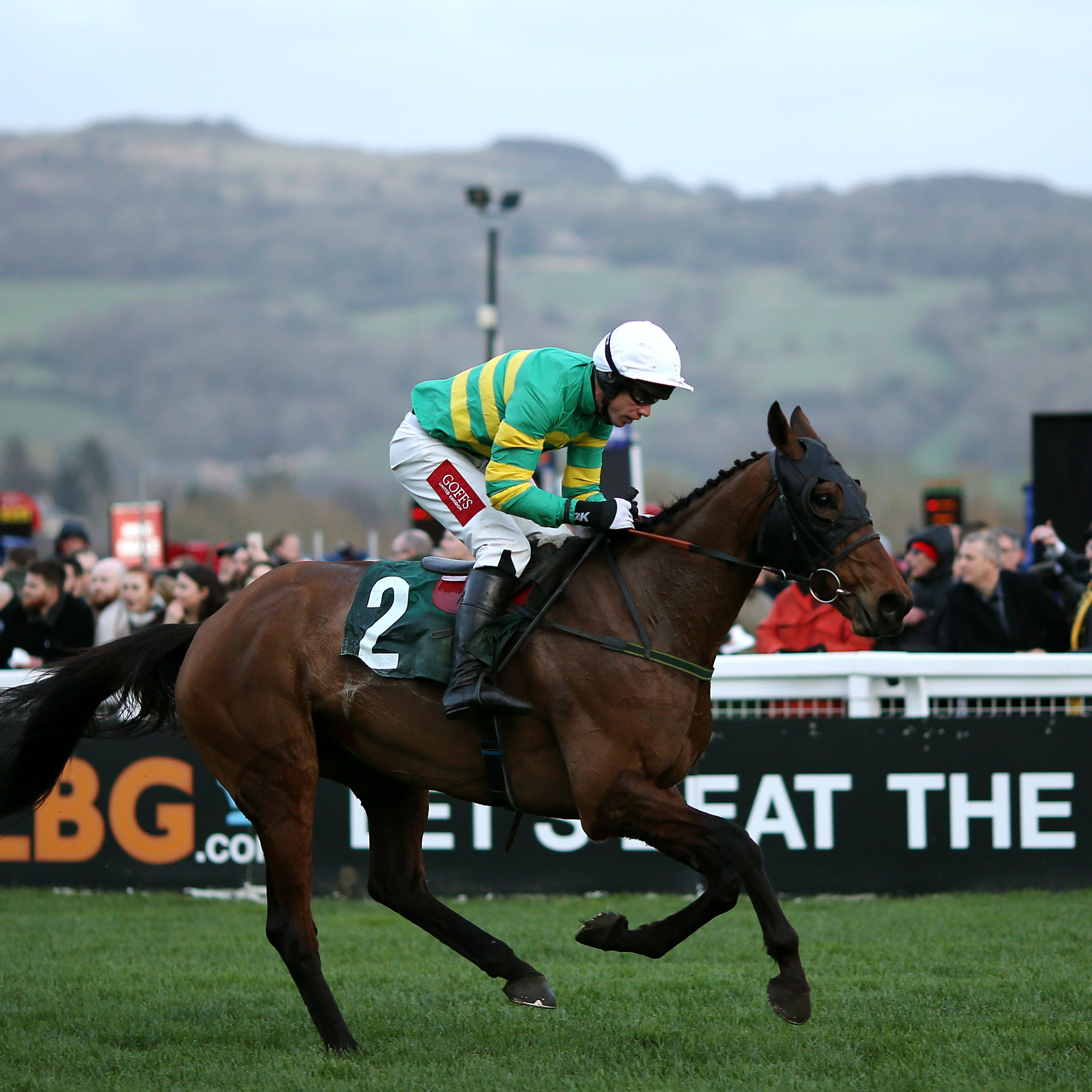Any Second Now powers up the Cheltenham hill to win the the Kim Muir Challenge Cup