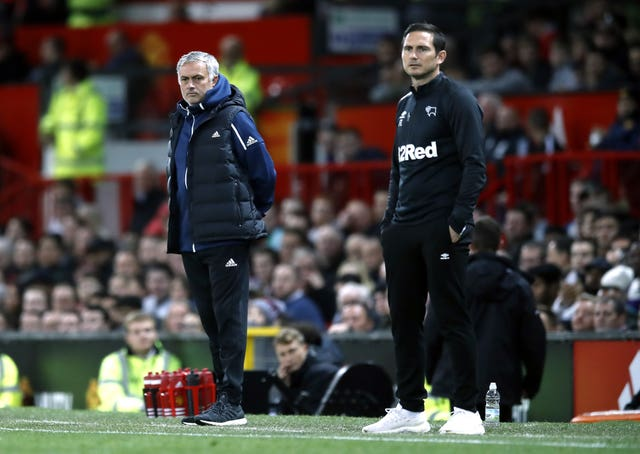 Mourinho, left, and Lampard went head to head as managers for the first time last season