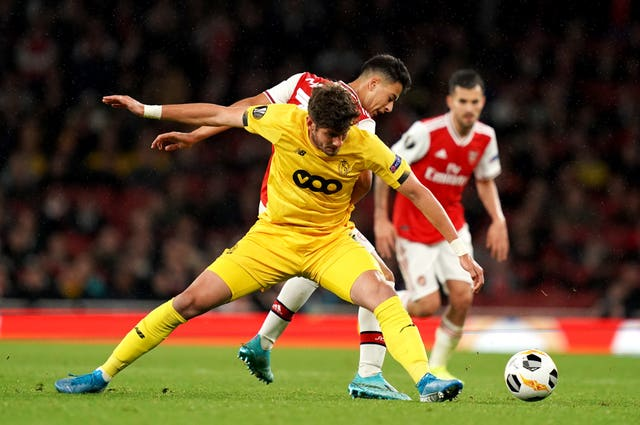 Standard Liege recorded a loss and a draw against Arsenal in the 2019-20 Europa League group stage (John Walton/PA).