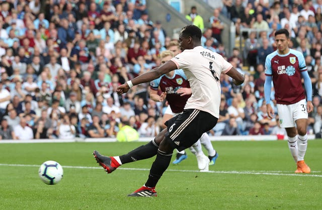 Paul Pogba saw his penalty saved at Burnley on Sunday