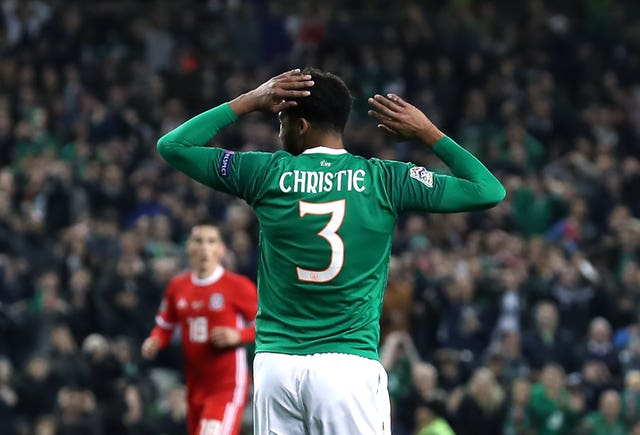 Cyrus Christie reacts after missing an early chance