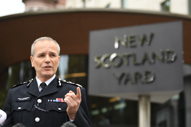 Met Police Deputy Assistant Commissioner Stephen House speaks to the media outside New Scotland Yard