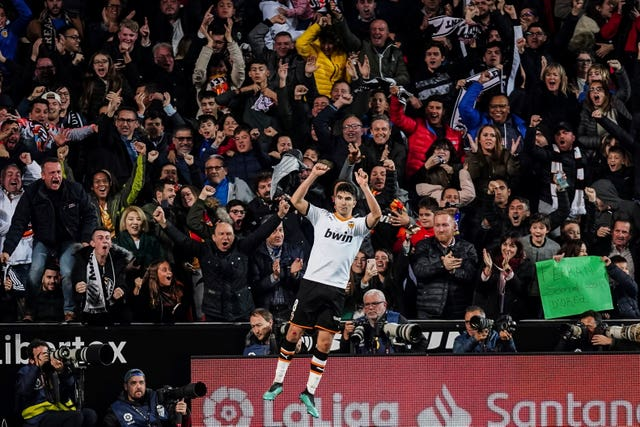 Carlos Soler puts Valencia ahead with 12 minutes remaining
