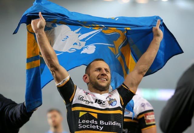 Former Leeds captain Rob Burrow is suffering from MND and was not in attendance