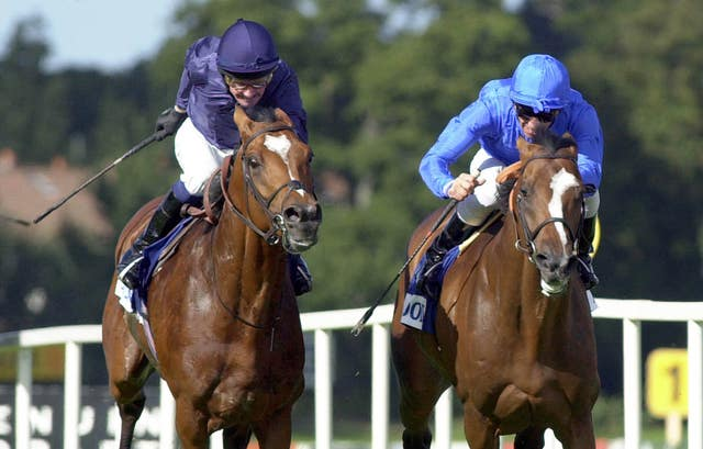 Fantastic Light (right) edged out the brilliant Galileo in 2001