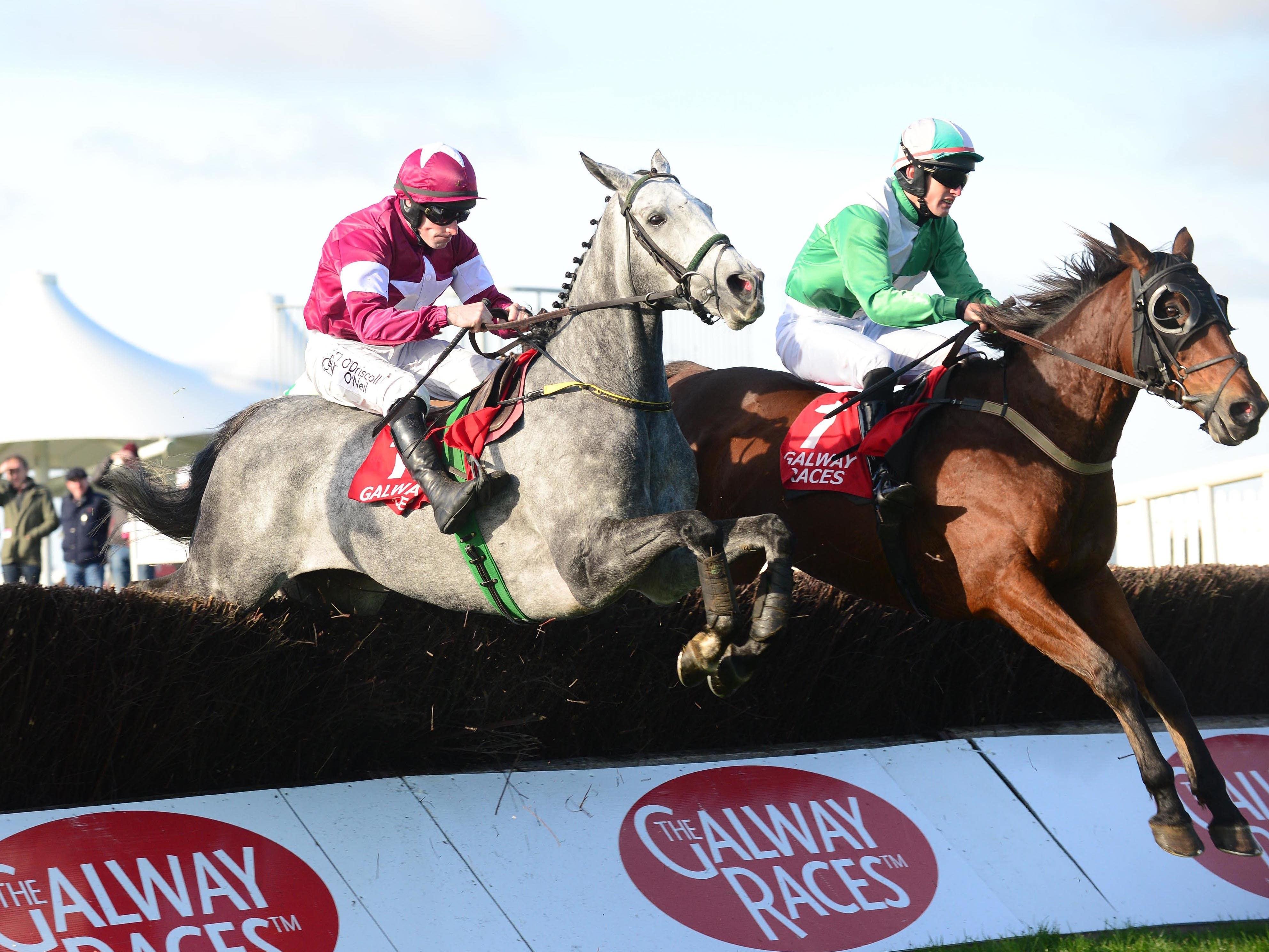 Tout Est Permis (left) wins at Galway (PA)