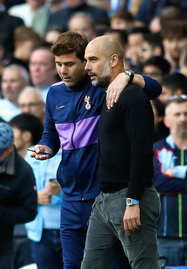 Mauricio Pochettino (left) and Pep Guardiola (right) face each other again
